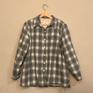 L.L. Bean Fleece Lined Flannel, Size M